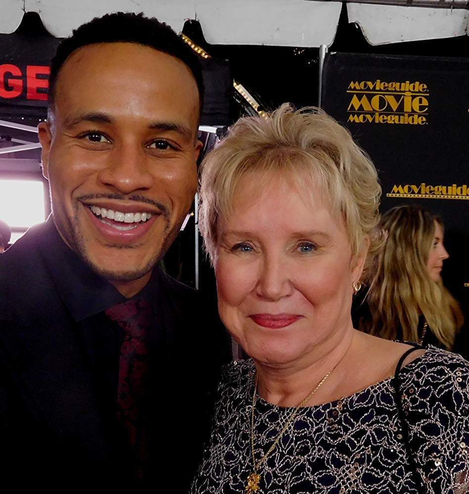 Devon Franklin and Diane Howard outside of Movieguide